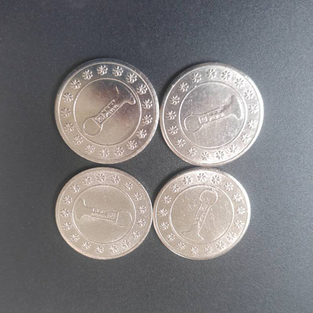 Fichas de juego de Arcade de Metal de 24*100mm, fichas de juego Arcade de acero inoxidable, fichas de monedas para máquina expendedora de caramelos, 1,7 Uds.