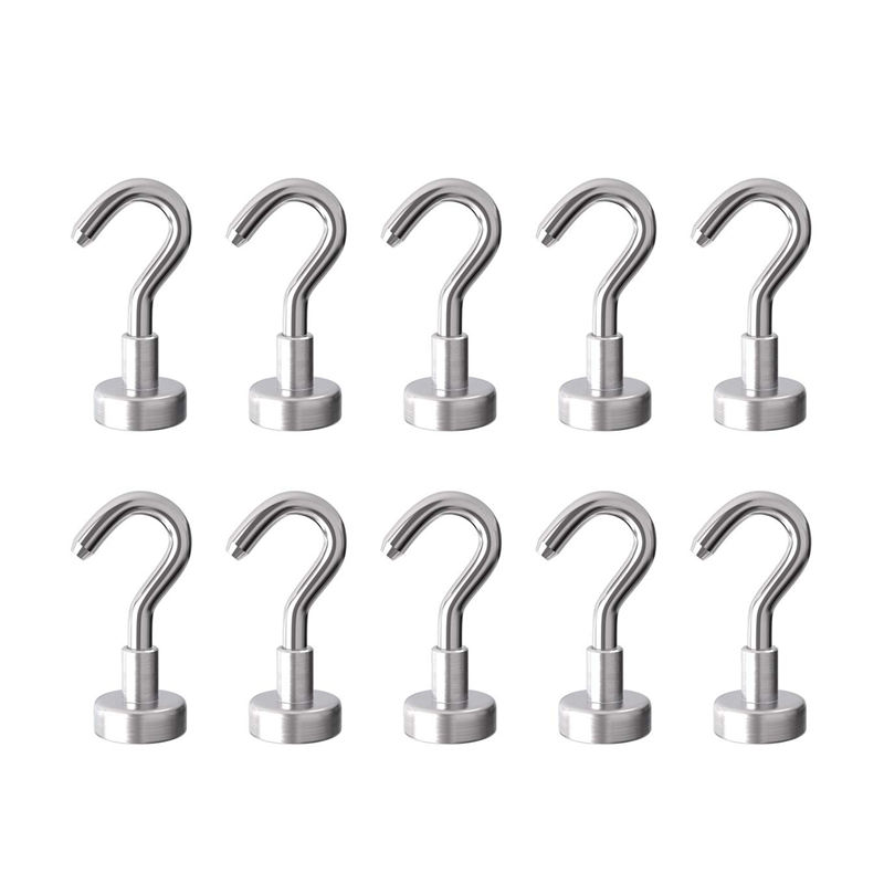 3KG Pull Force Diameter 16mm Magnetic Hooks Heavy Duty Neodymium Hanging Mighty Super Strong Permanent  Magnetic Hooks