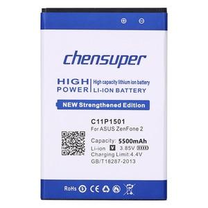 Image 2 - Новый аккумулятор 5500 мач C11P1501 для ASUS ZenFone 2 Laser Selfie ZE601KL ZE550KL ZD551K батарея для телефона