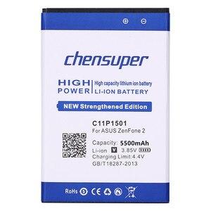 Image 2 - חדש 5500mAh C11P1501 סוללה עבור ASUS ZenFone 2 לייזר Selfie ZE601KL ZE550KL ZD551K טלפון סוללה