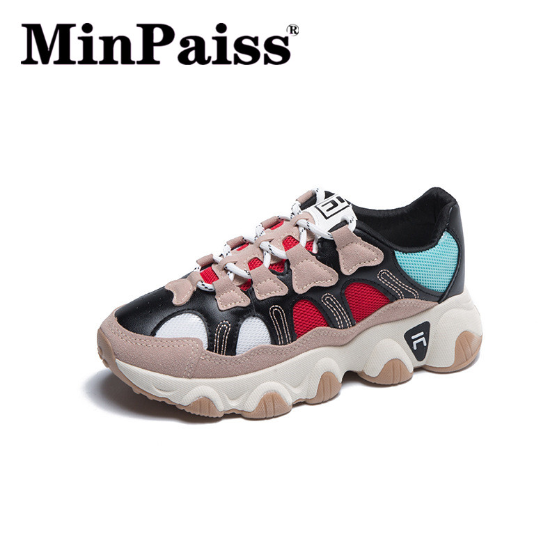 Daddy's Shoes Spring New White Sports Shoes Women's Running Casual Shoes Ins Wild Tide Shoes   Zapatos De Mujer  Sneakers Women