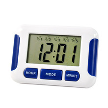 Quevinal 200 pcs lot Free DHL Alarm Clock 5 Groups Noisy Bell 12 24 Hours Countdown Multi Kitchen Home House Lab tanie tanio Zegary biurkowe DIGITAL Plac Metal Mechaniczne Luminova