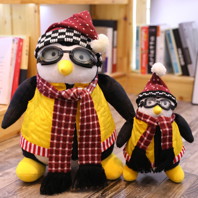 47cm 27cm TV Serious Friends Penguin Plush Toys Joey's Friend HUGSY Penguin Rachel Stuffed Animal Dolls For Children Gift