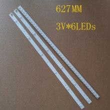 """627 มม.3 PCS 6LEDs * 3V LED ใหม่สำหรับ TOSHIBA 32 """"ทีวี SVT320AF5 32P1300 32P1400VT 32P1400VE 32P1400d 32P2400VT"""