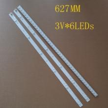 """627 milímetros 3PCS 6LEDs * 3V Nova Faixa de LED Para Toshiba 32 """"TV SVT320AF5 32P1300 32P1400VT 32P1400VE 32P1400d 32P2400VT"""