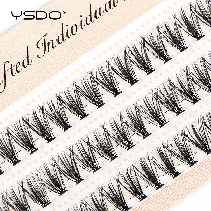 YSDO 60 PCS Einzelnen Wimpern Pfropfen Make-Up Volume Falschen Wimpern verlängerung 10/20/30D Individuelle Cluster Wimpern Cils bunche