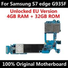 EuバージョンサムスンギャラクシーS7エッジG935Fマザーボードオリジナルマザーボードでロック解除チップimei os良好な作動ロジックボード