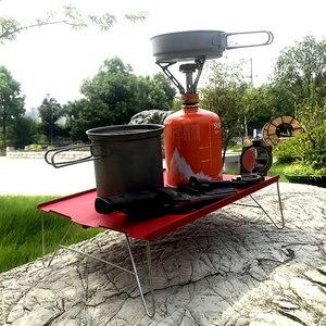 Image 5 - Mini mesa plegable de aluminio ultraligera, portátil, roja, para acampar, Picnic, viajes al aire libre, senderismo y Pesca