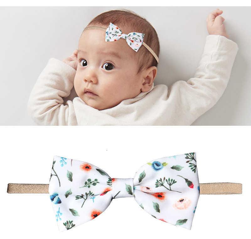 1 חתיכה Lytwtw של תינוק סרטי ראש בנות Bowknots פרח גומייה לשיער להקת תינוקות יילוד פעוטות מתנה שיער בד אבזרים