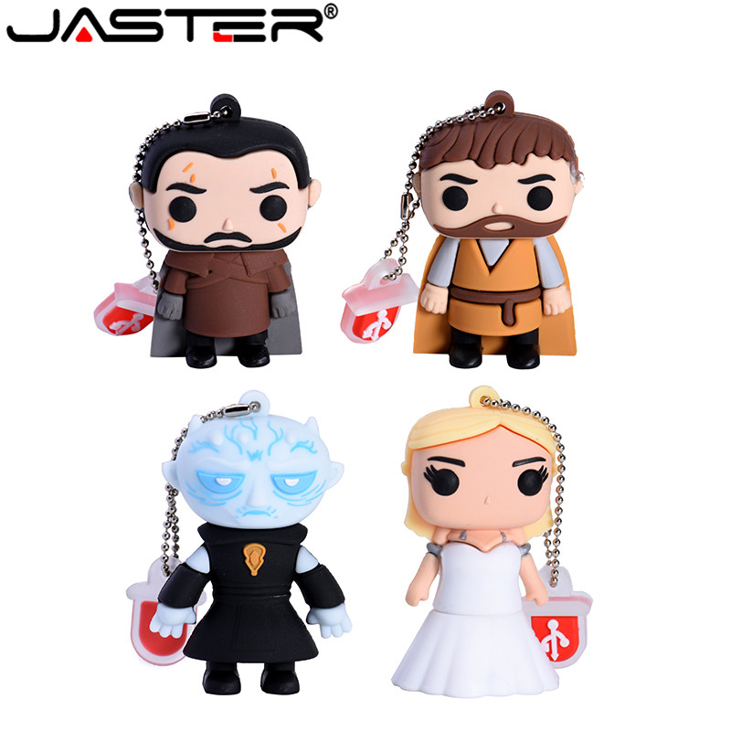 JASTER Cartoon USB 2.0 Right-wing Game Series Flash Drive Yaoh Danielis Tilion Jon Snow Pen Drive 4GB 16GB 32GB 64GB USB