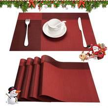 Цвет красный подарок к Рождеству pvc салфетки для столовой пластиковая