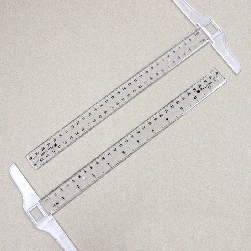 12 Inch/ 30 Cm Junior T-Square Plastic Transparent T-Ruler For Drafting And General Layout Work (4)