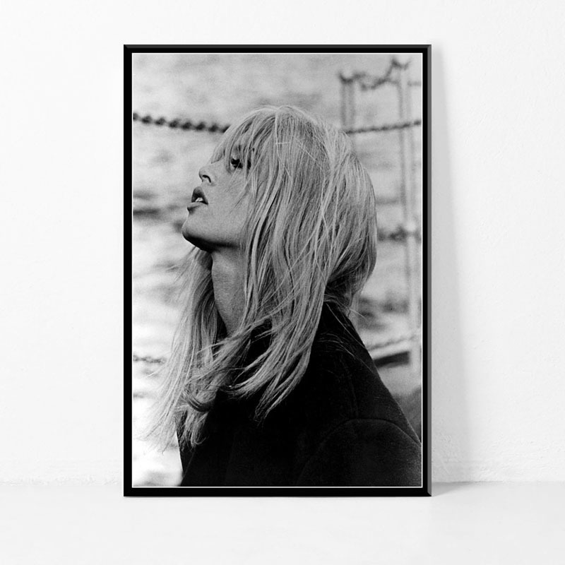 Brigitte Bardot Movie Star Actress Model Black White Posters And Prints Picture On The Wall Vintage Poster Decorative Home Decor image