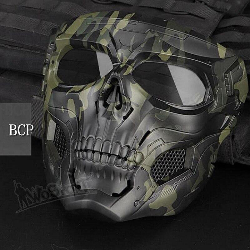 Новая тактическая страйкбольная маска с черепом, Пейнтбольная Военная Боевая полная защитная маска, скелет CS, игра, защитная маска для лица - Цвет: bcp