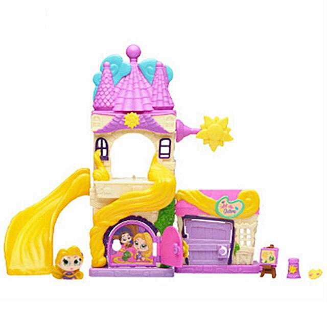 TAKARA TOMY Disney Doorables Tangled Rapunzel Princess Tale Fantasy Castle Play Slide House Mini Peek Box Girls Gift Kids Toys 4