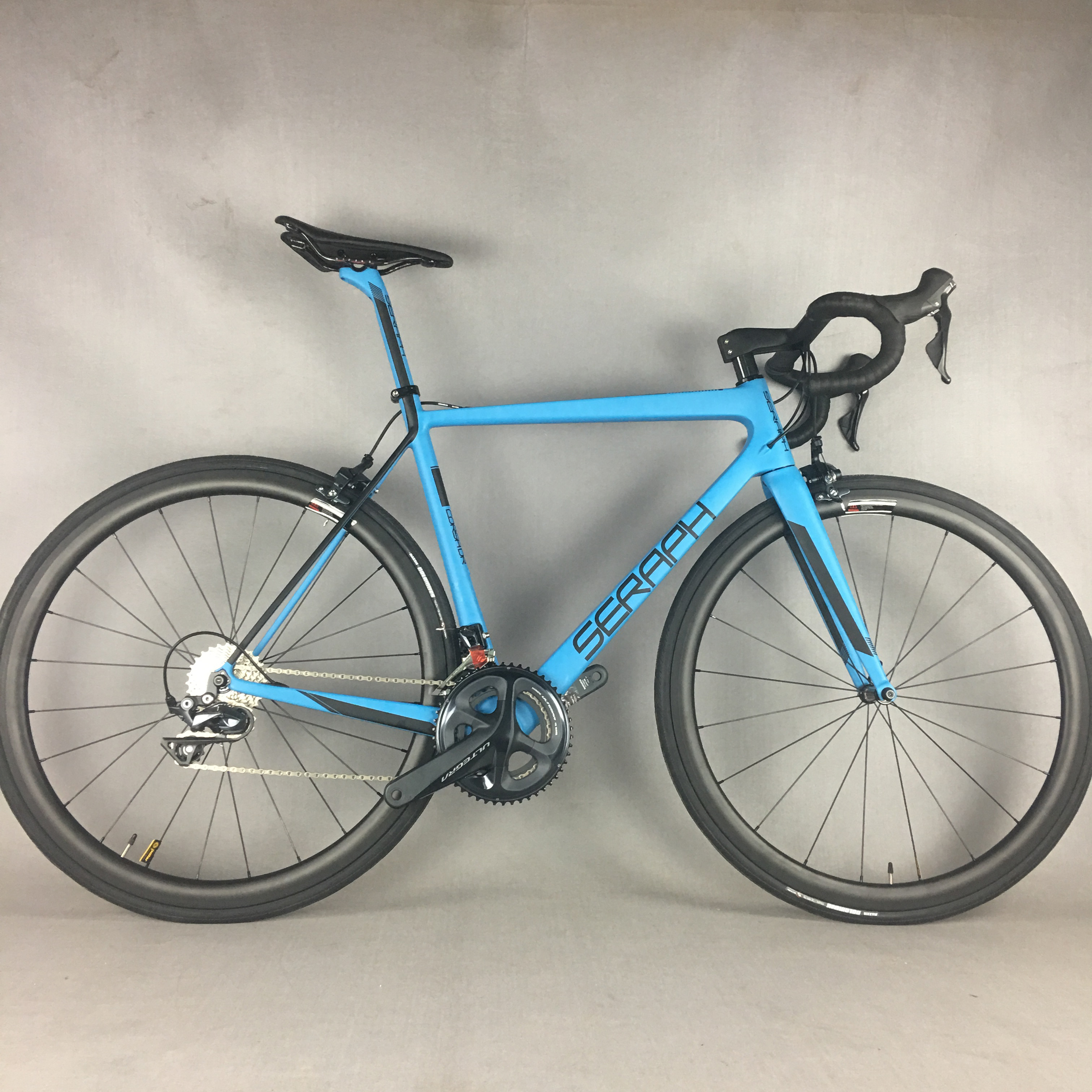 2019 Blue Paint Seraph Brand Complete Bike SH1MANO R8000 Groupset With 22 Speed 700*25C Tire Complete Carbon Road  Bicycle FM686