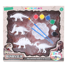 Dzieci dzieci DIY kolorowanki do malowania zwierząt Model dinozaura rysunek Graffiti dzieci zestaw zabawek 4 sztuk tanie tanio Z tworzywa sztucznego YW1746 Unisex 3 lat Deski Kreślarskiej 4 pcs set DIY Coloring Painting Animal Dinosaur Model Dinosaur Model Drawing Graffiti