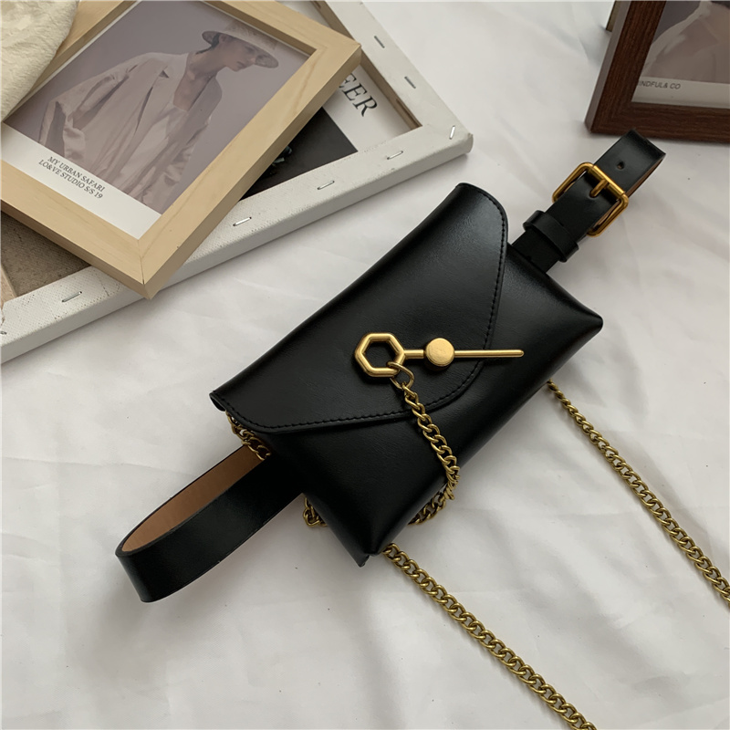 2020 Spring Belt Bag High Fashion Stylish Trendy Waist Bags For Women New Design Solid Female All-match Leather Chains Bag ZK941