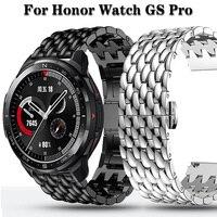 Voor Honor Horloge Gs Pro Magic Horloge 2 46Mm Roestvrij Stalen Band Alloy Metalen 22Mm Horloge Band Draak schaal Armband Polsband