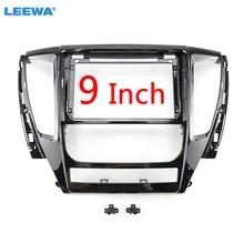 "LEEWA Car Audio 9"" Big Screen 2DIN Fascia Frame Adapter For Mitsubishi Pajero Sport CD/DVD Player Dash Fitting Panel Frame Kit"