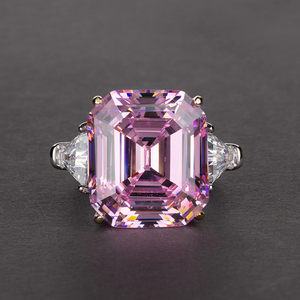 Image 3 - PANSYSEN יוקרה לדמות moissanite סיטרין גדול חן טבעות לנשים מוצק 925 כסף בסדר תכשיטי טבעת גודל 5 12