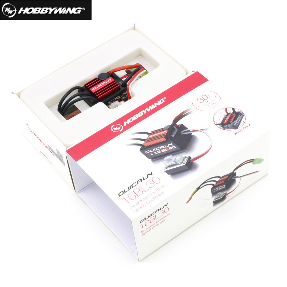 Image 2 - 100% Original Hobbywing QuicRun 16BL30 30A Brushless ESC For 1/16 On road / Off road / Buggy /Monster RC Carhobbywing quicrun30a brushless escbrushless esc -