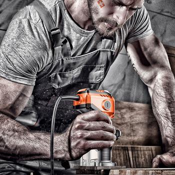 Trymer do drewna elektryczny trymer do obróbki drewna elektryczna ręczna przycinarka do drewna Laminator trymer do krawędzi drewna r dłutownica do drewna tanie i dobre opinie dutoofree 50Hz 6 35 220 v 35000 rpm 1000 w 20191030 Remont Zespołu