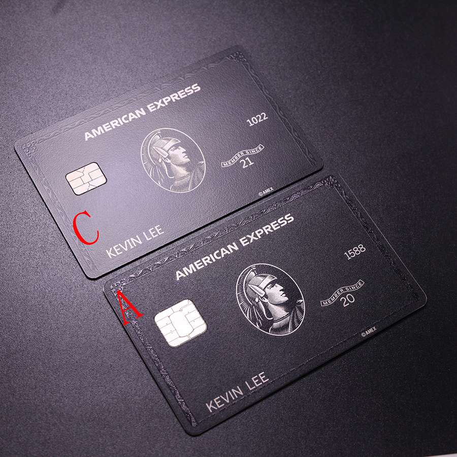 Metal card black card and production American express gift card 6