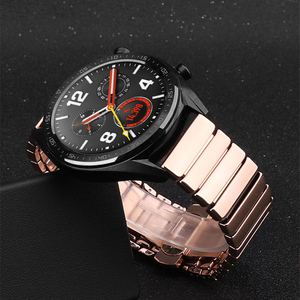 Image 1 - 20 22mm plating ceramic strap For HUAWEI watch GT 2 2E  /HONOR Magic Watch 2 Replacement band For Samsung Galaxy 46 42mm/Gear S3