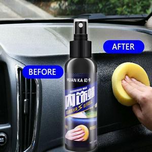 Image 3 - Kit de limpiador de neumáticos para salpicadero, 50ml/120ml, para el cuidado del Interior del coche, asiento de cuero, sofá