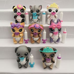 Original Many jo cute toys Lovely Pet shop animal Pet Cute little bear pet action figure littlest lol doll gift girl toy(China)