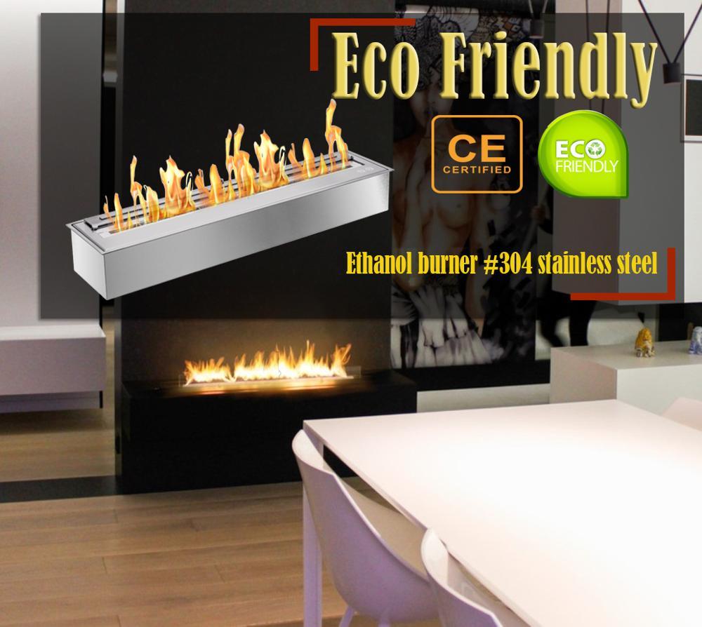 Inno Living Fire 24 Inch Chimney Bioethanol Indoor Fireplace Insert