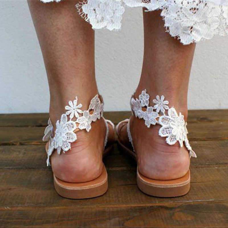 Sandali delle donne 2020 Nuovi Pattini di Estate Donna Bohos Scarpe Da Spiaggia Con Sandali Piatti Più Il Formato 43 Gladiatore Sandalias Mujer di Vibrazione infradito