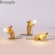 «Животное» из смолы стол с мышкой лампа милый маленький светодиодный