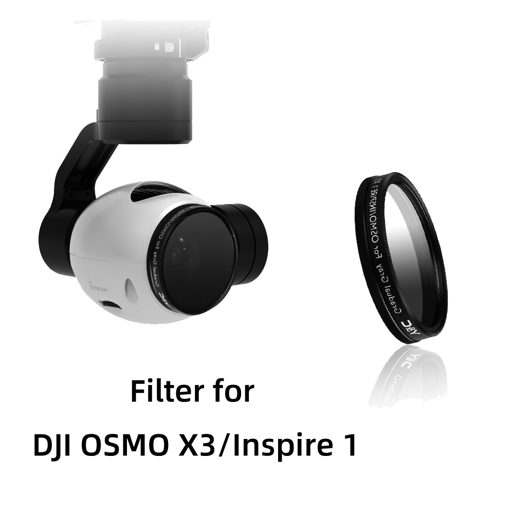 Lens Filter UV CPL ND2-400 ND8 ND16 For DJI OSMO X3 Handheld Gimbal Stabilizer Inspire 1 X3 Camera Lens Spare Parts Accessory