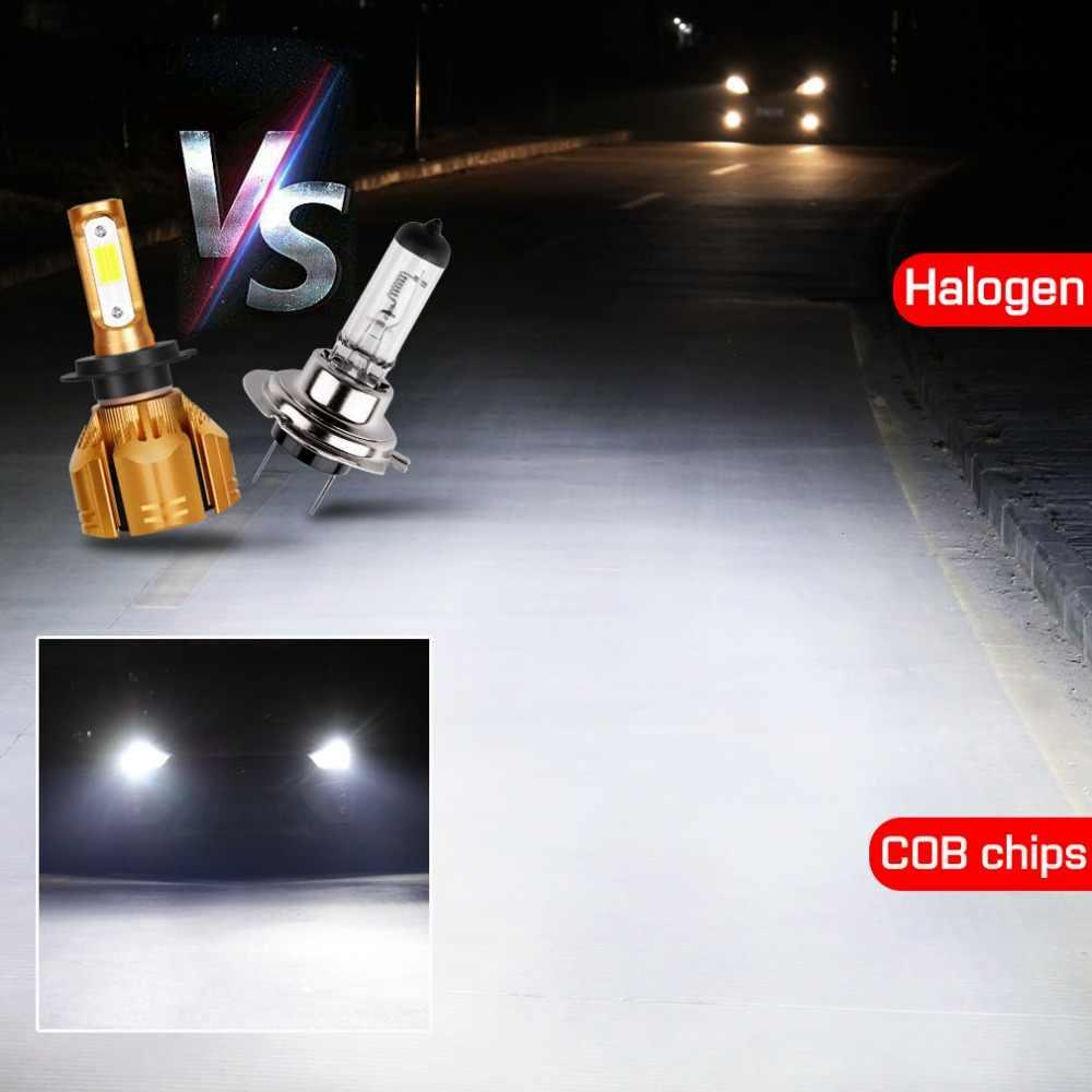 LED רכב פנס נורות H1 H3 H4 LED H7 H11 HB3 9005 HB4 9006 H13 9004 HB1 9007 HB5 9012 HB2 10000LM אוטומטי ערפל אור מנורת 60W 12V