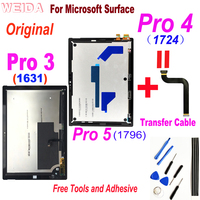Original Display for Microsoft Surface Pro 3 1631 Pro 4 1724 Pro 5 1796 LCD Display Touch Screen Digitizer Assembly for Pro3 LCD