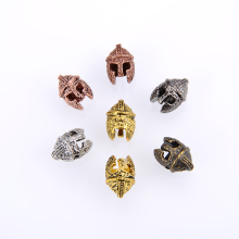 10PCS/ package Wholesale accessories charm Spartan Helmet Bead Antique Color for Bracelet Keychain or DIY Lanyard Making