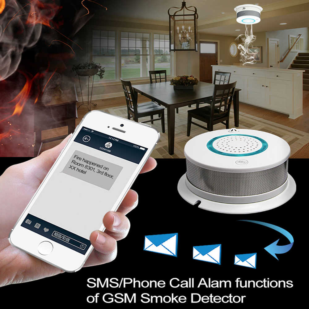 Akses Internet Nirkabel Smoke + Detektor Panas Independen Alarm Kebakaran Nirkabel Perlindungan Sensor Asap Keamanan Rumah Alat Pemadam Kebakaran Smart APP Kontrol