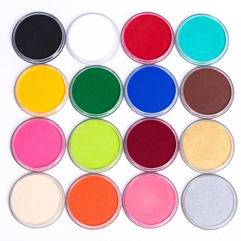 17 Colors Body Paint Professional Cosmetics Water-based Matte Body Painting Pigment Stage Face Makeup Halloween Party Tool