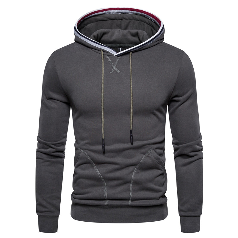 2020 New Spring Slim Sporting Hoodies Men Fleece Hoodies Solid Color Sweatshirts Velvet Fabrics Running Hoodies For Men Women