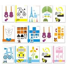 Modello stampo necessario aiuto Graffiti Board Template penna 3D per bambini carta speciale casuale 15 pezzi copia Board