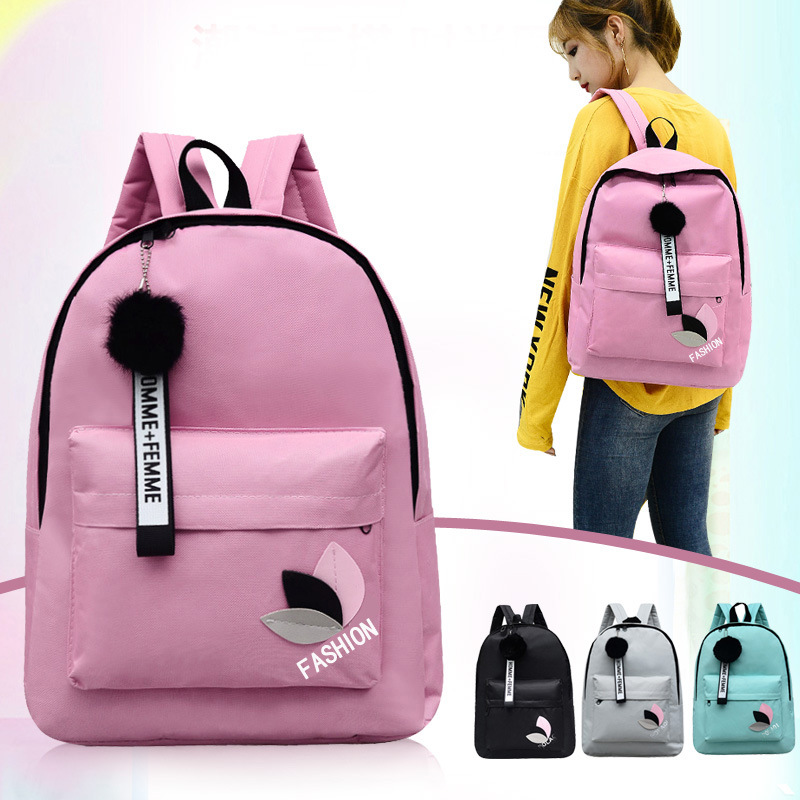 New Backpack Canvas-Bag Female Small College Student High-School Fresh Junior Wind-Wild