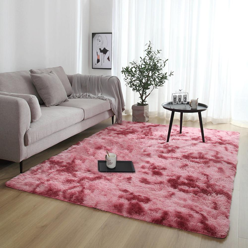 Velvet  Soft Fluffy Large Carpets Non-slip  Rug Dining Room Home   Living Bedroom Floor Mat 80*120CM  Warm Home Decoration