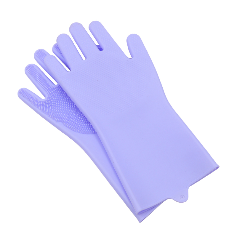 Dish Washing Cleaning Gloves With Cleaning Brush For Cleaning Dishes Kitchen And Housekeeping 8
