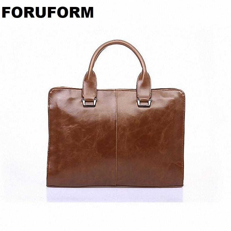 Designer Pu Leather Retro Messenger Bags Business Men Briefcases  Fashion Laptop Men's Travel Bags LI-091