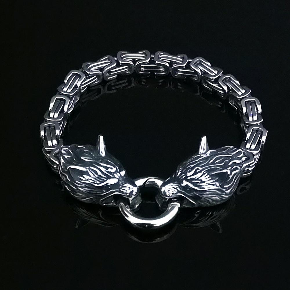 Bracelet loup  acier empereur  4