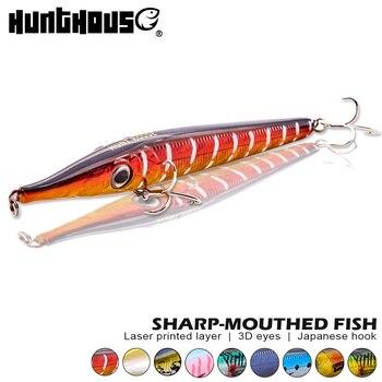 Hunthouse stickbait señuelo para pesca con lápiz cebo duro topwater flotante señuelo 146mm 19g hundimiento lápiz 146mm 35g para lubina wobbler