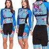 Terno de triathlon profissional, camiseta de ciclismo preta feminina, macacão, manga longa em gel, conjunto de ciclismo, 2019 15