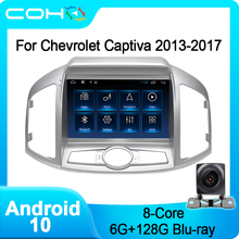 COHO For Chevrolet Captiva 2013-2017 Gps Navigation Dvd Automotivo Radio Android 10.0 Octa Core 6+128G